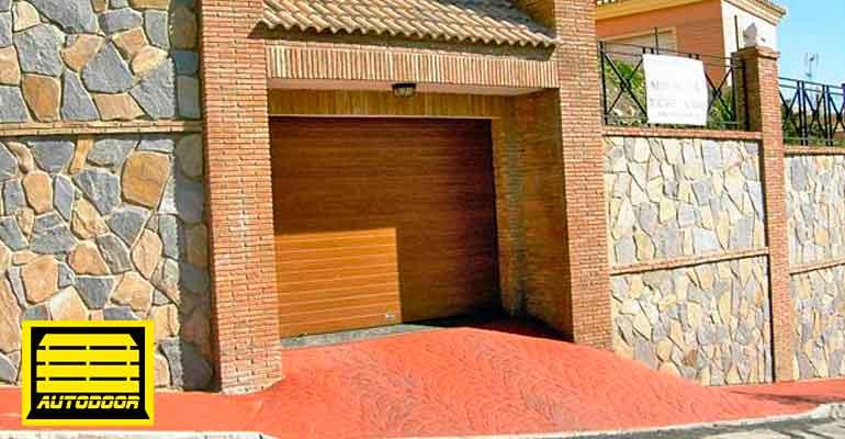 Puertas madera enrollable